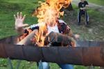 mystischer Feuerzauber