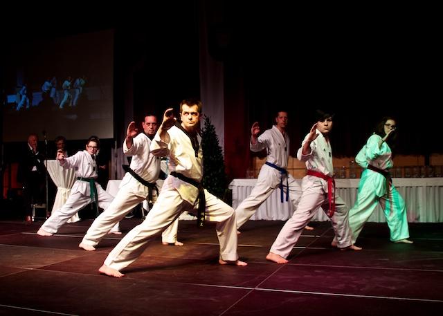 Taekwondo-Vorführung bei der Sportlerehrung 2013