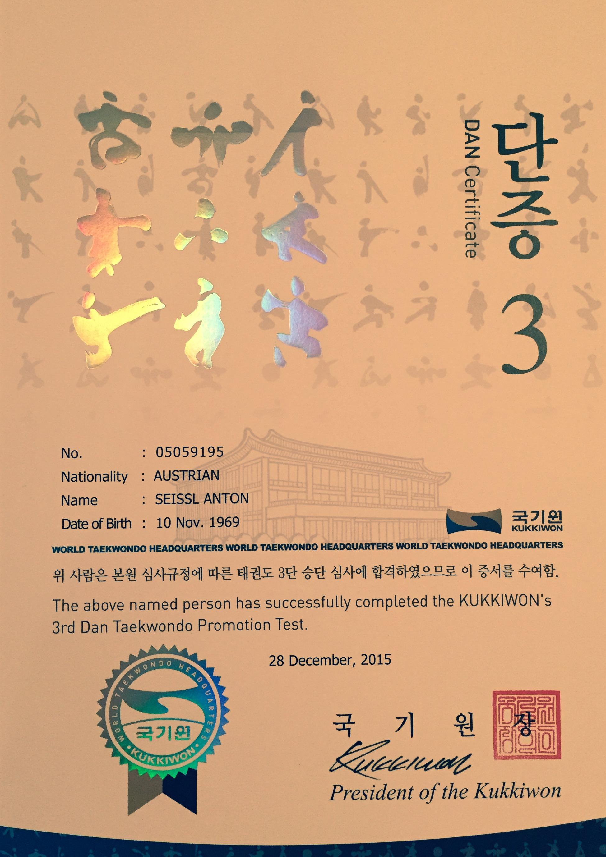 Dan Taekwondo Verein Kufstein