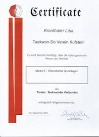 Übungsleiterausbildung 2012